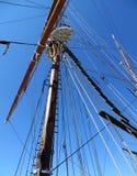 Mast av segelbåten Royaltyfri Bild