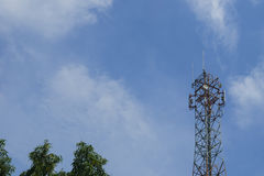 Mast cell, telecommunication tower Royalty Free Stock Photography