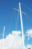 Mast with cords Stock Images