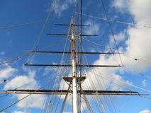 Mast of the Cutty Sark Royalty Free Stock Photos