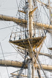 Mast detail of old vessel Barque Mircea Stock Images