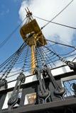 Mast einer Fregatte der 18 jahrhundert Lizenzfreie Stockbilder