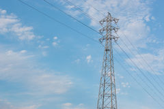 Mast electrical power. Royalty Free Stock Photos