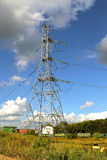 Mast electrical power line Royalty Free Stock Images