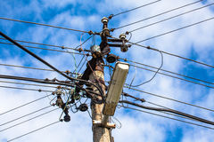 Mast electrical voltage Stock Image