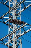 Mast of electricity transmission Stock Photo
