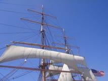 Mast en Zeil royalty-vrije stock afbeelding