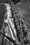 Mast en zeil Stock Afbeelding