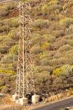 Mast för elektrisk kapacitet Arkivbild