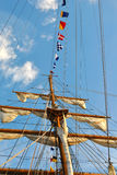 Mast and Flags Stock Photography