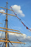 Mast and Flags Royalty Free Stock Image