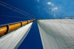 Mast of a lemsteraak. Mast of a 10.05m lemsteraak on the dutch Ijselmeer Royalty Free Stock Photos