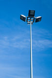 Mast lighting streets of the city on a background  the sky Stock Photos