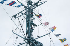 Mast of the military ship Royalty Free Stock Photography