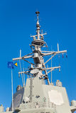Mast of a military ship Stock Image