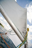 Mast of my small yacht - sailing on the lake Royalty Free Stock Photo