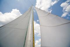Mast of my small yacht - sailing on the lake Royalty Free Stock Photography