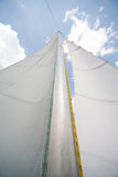 Mast of my small yacht - sailing on the lake Stock Photos
