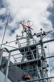A mast of navy ship Royalty Free Stock Photography