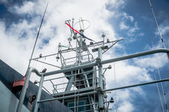 A mast of navy ship Stock Image