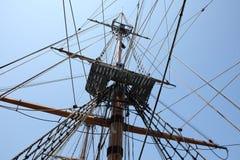Mast och kabel Fotografering för Bildbyråer