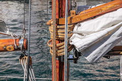 Mast of old sailing ship Royalty Free Stock Image