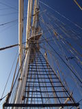 Mast of an old sailsboat Stock Image