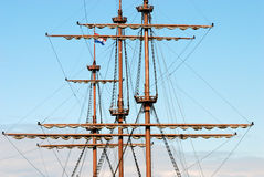 Mast of old ship Royalty Free Stock Image