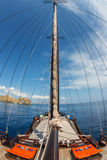 Mast of pinisi boat Indonesia Royalty Free Stock Photos