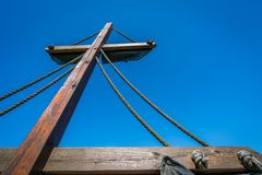 Mast of a pirate ship Stock Image