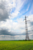 Mast of  power line Royalty Free Stock Photography