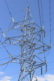 Mast power lines Stock Photo