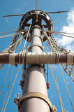 Mast of the replica of a Columbus's ship Stock Photos