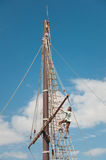 Mast of the replica of a Columbus's ship Stock Photo
