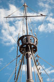 Mast of the replica of a Columbus's ship Stock Image