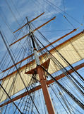 Mast and Rigging. The Mast and Rigging of a Tall Sailing Ship stock photography