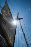 Mast and rigging. Of a sailing boat Stock Photography