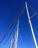 Mast and ropes stock image