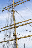Mast and ropes Royalty Free Stock Images