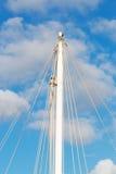 Mast and ropes Royalty Free Stock Photos