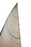 Mast and sail isolated on white background Royalty Free Stock Image