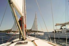 Mast and sail Royalty Free Stock Image
