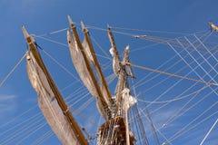 Mast of sail ship Royalty Free Stock Photos