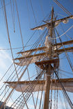 Mast of sail ship Stock Image
