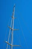 Mast of Sailboat Against a Blue Sky Stock Photos