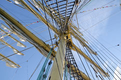Mast of a sailboat Stock Images