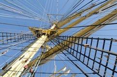 Mast of a sailboat Royalty Free Stock Photos