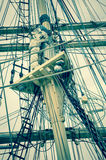 Mast and sailboat rigging Royalty Free Stock Images