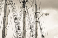 Mast and sailboat rigging Royalty Free Stock Photography
