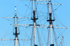 Mast sailboat without sails Stock Image
